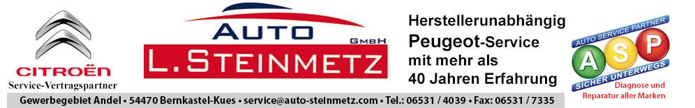 Autohaus L. Steinmetz GmbH – Citroen Vertragspartner und herstellerunabhängiger Peugeot Service